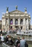 Theatre av operan och balett Royaltyfri Fotografi