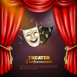 Theatre Background Illustration Stock Images
