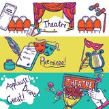 Theatre Banner Set Stock Photography