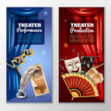 Theatre Banners Set Royalty Free Stock Photography