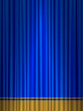 Theatre blue gold curtain Stock Images