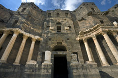 The theatre in Bosra Stock Image