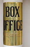 Theatre Box office sign. Brass theatre Box office sign, Theatre Royal, Bath, England Stock Image