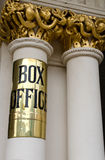 Theatre Box office sign. Brass theatre Box office sign, Theatre Royal, Bath, England Stock Images