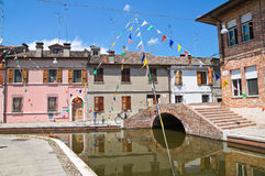Theatre Bridge. Comacchio. Emilia-Romagna. Italy. Stock Photo