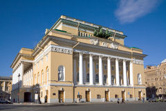 Theatre building. Building of Alexandrinsky Theater, St.Petersburg, Russia stock photography