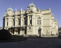 The theatre building. The historic theatre building named after Juliusz Słowacki in Krakow Stock Photos