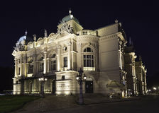 The theatre building. The historic theatre building named after Juliusz Słowacki in Krakow Stock Photography