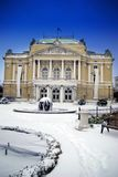 The Theatre Building in Rijeka,Croatia Royalty Free Stock Photo