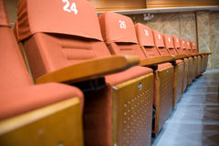 Theatre chairs Royalty Free Stock Photos