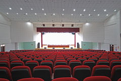 Theatre chairs and stage Royalty Free Stock Images
