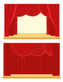 Theatre and cinema curtain. Theatre and cinema red curtain Stock Illustration