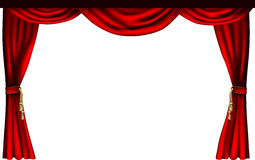 Theatre or cinema curtains. A set of theatre or cinema style curtains Stock Photos