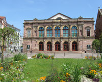 Theatre, Colmar, France. COLMAR, FRANCE, JULY 15: The lovely Municipal Theatre in Colmar on July 15 2013.  This quaint 19th century building has a yearly Stock Photo