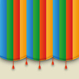 Theatre color carnival curtain Royalty Free Stock Photography