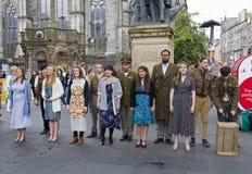 Theatre Company in Edinburgh Stock Photo