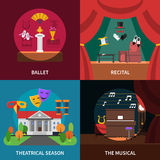 Theatre Concept Icons Set Royalty Free Stock Photo