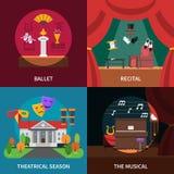 Theatre Concept Icons Set Royalty Free Stock Photo