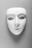 Theatre concept - white masks. Theatre concept with the white plastic masks Royalty Free Stock Image