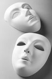 Theatre concept - white masks. Theatre concept with the white plastic masks Royalty Free Stock Photos