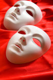Theatre concept - white masks Royalty Free Stock Image