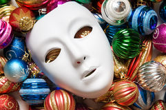 Theatre concept - white masks. Theatre concept with the white plastic masks Royalty Free Stock Photography
