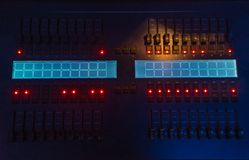 Light control console royalty free stock photo