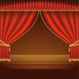 Theatre Courtains 01. High detailed vector illustration Royalty Free Stock Photography