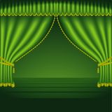 Theatre Courtains 02. High detailed vector illustration Stock Photo