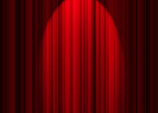 Theatre curtain. Illustration of a theatre curtain Royalty Free Stock Photos