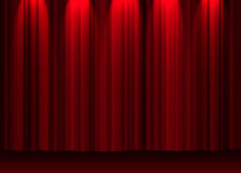 Theatre curtain. Illustration of a theatre curtain Stock Images