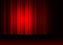 Theatre curtain. Illustration of a theatre curtain Royalty Free Stock Photography