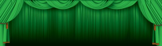Theatre curtain stock illustration