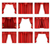 Theatre Curtain Icons Set Royalty Free Stock Photo