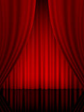 Theatre curtain vertical Royalty Free Stock Photo