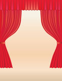 Theatre curtains. Background for your text with the illustration of classical red velvet theatre curtains Royalty Free Stock Photos