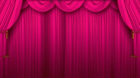 Theatre curtains Stock Photography