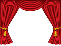 Theatre curtains with copy space Stock Photo