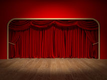 Theatre Curtains Royalty Free Stock Images