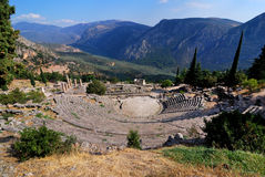 The theatre from Delphi, Greece landmark Stock Photo