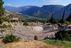 The theatre from Delphi, Greece landmark Stock Photo