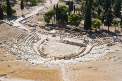 Theatre of Dionysus in the Acropolis Royalty Free Stock Photo