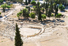 Theatre of Dionysus on Acropolis Hill, Athens Stock Photo