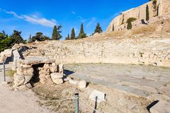 Theatre of Dionysus, Acropolis Royalty Free Stock Photography