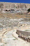 The theatre of Dionysus and Acropolis wall Stock Image