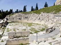 Theatre of Dionysus in Athens,. Greece royalty free stock photography