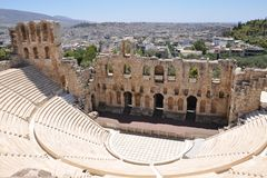 Theatre of Dionysus in Athens Royalty Free Stock Photos