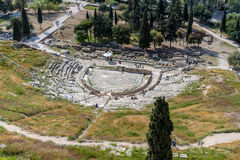 Theatre of Dionysus in Athens, Greece Stock Images