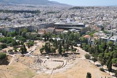 Theatre of Dionysus, Athens, Greece Royalty Free Stock Images