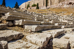 Theatre of Dionysus Eleuthereus Stock Images